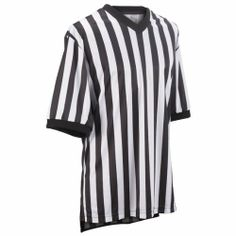 "Adams USA Smitty Performance Mesh Standard V-Neck Referee Shirt (Black/White, 3X-Large) by Adams. Save 14 Off!. $27.52. SMITTY referee shirt is made from performance standard closed hole mesh. It is a standard 1"" stripe V-Neck shirt. It contains a SMITTY lanyard ring and is double stitched. It has extra tuck in length with a split tail bottom."