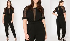 c13449db0e5 Plus Size Fashion Find of The Day  Margurite Mesh Insert Jumpsuit From Pink  Clove