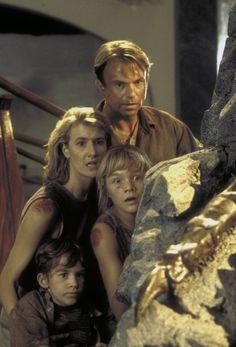 Still of Laura Dern, Sam Neill, Ariana Richards and Joseph Mazzello in Jurassic Park (1993)