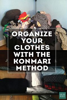 This is how you conquer clutter with the KonMari Method - Closet Organization Ideas - Organizar Closets, Marie Kondo Methode, Konmari Method, Ideas Para Organizar, Closet Organization, Organisation Ideas, Storage Ideas, Tidy Up, Home Hacks