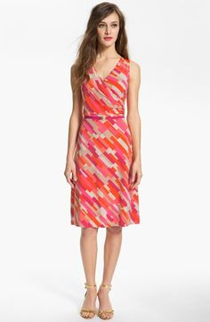 Anne Klein Colorblock Print Dress available at #Nordstrom