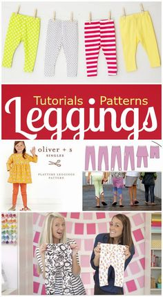 No pattern. 4 Reliable Tutorials & Patterns for Sewing Children's Leggings Easy Sewing Projects, Sewing Projects For Beginners, Sewing Hacks, Sewing For Kids, Baby Sewing, Sewing Patterns Free, Free Sewing, Couture, Short Niña