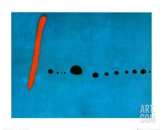 "Blue II, c.1961 Art Print by Joan Miró at Art.com - 20"" x 16"""