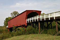 The 107' Roseman Covered Bridge was in 1883 by Benton Jones, and sits in its original location. The Roseman Bridge was renovated in 1992 at a cost of $152,515.  Bridges of Madison County, Iowa.    The Roseman Covered Bridge is the bridge in the aptly titled book where Robert Kincaid is looking for when he stops at Francesca Johnson's for directions.