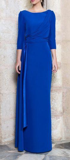 Sencillo azul elegante