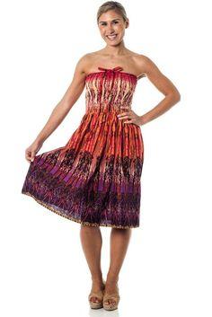 Amazon.com: One-size-fits-most Tube Dress/Coverup - Tribal Sparks Orange: Clothing
