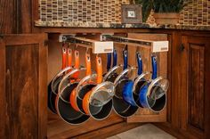 Glideware Double Pull-out Cabinet Organizer for Pots and Pans