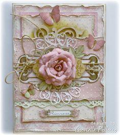 Primrose Card **Bo Bunny Kraftwood** - Bo Bunny Primrose collection