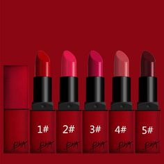[Visit to Buy] 5 colors  Korean brand matte lipstick waterproof and long lasting beauty lips just like ruby woo and diva Lipsticks #Advertisement