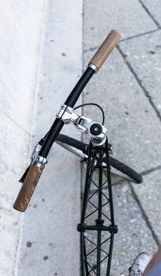 wooden handlebar grips  by pecker design