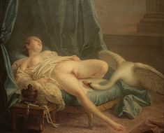 """François Boucher (attributed), """"Leda and the Swan"""" (c. 1741), Oil on canvas, Private collection"""