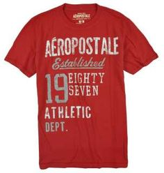Aeropostale mens Athletic Dept Eighty Seven weathered graphic tee