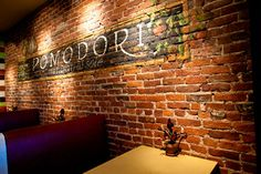 Love how uneven thus wall is...makes it feel authentic! Brick Facing for Walls | The Jalopy Journal