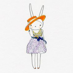 adorable site where illustrator re-envisions runway photos onto a bunny