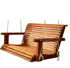 Mahogany Porch Swing  I want this for my front veranda.