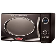 800-Watt microwave with an interior glass carousel. Features a 12-program spinning dial and LED display.     Product: Microwave
