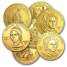 The US Mint began production of the series in 2007 and issued 4 designs each year until 2016 when only 3 US mint coins were issued. The last coin in the series thus far is Nancy Reagan. Buy Gold And Silver, Mint Gold, Sell Gold, Bullion Coins, Gold Bullion, Gold Eagle Coins, Silver Coins, Gold Coins For Sale, Coin Store