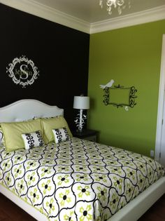 Check out these 17 Fresh and Bright Lime Green Bedroom Ideas and get     Tween girl s room from pinks to lime green and black  Created by Lori  Wilkes   If Walls Could Talk   Sandusky Ohio