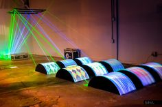 """""""Illoominated"""" Mixes Giant Spools Of Thread And Lasers 
