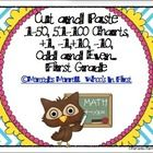 Cut and Paste 1-50, 51-100 Charts, +1, -1, +10, -10, Odd and Even...First Grade is a great way for first graders to practice place value and number...