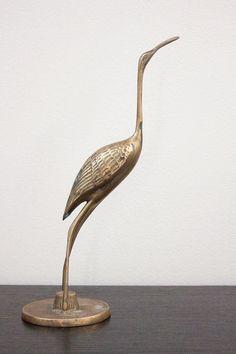 Mid Century Modern Brass Bird Crane Stork Sculpture Figurine - No. 0001192 on Etsy, 101:28kr