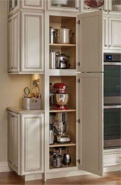 Farmhouse Kitchen Cabinets, Kitchen Redo, Kitchen Layout, Kitchen Storage, Kitchen Ideas, Storage Cabinets, Kitchen Pantry, Rustic Kitchen, 10x10 Kitchen