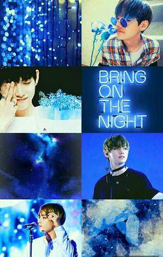 38 Super Ideas for taehyung aesthetic wallpaper blue # aesthetic - Modern Bts Jimin, Bts Bangtan Boy, Blue Aesthetic, Kpop Aesthetic, Aesthetic Collage, K Pop, Jin, Handy Iphone, V Bts Wallpaper