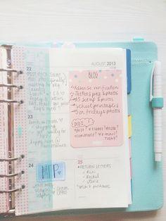 cafe et papier - blog: My Filofax week #34 http://cafeetpapier.com #filofax #kikkik