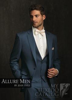 Slate Blue Allure Men Tuxedo from www.mytuxedocatal - Tuxedo - Ideas of Tuxedo - Slate Blue Allure Men Tuxedo from www. Tuxedo Wedding, Wedding Suits, Wedding Attire, Wedding Dresses, Wedding Tuxedos, Groom Wear, Groom Attire, Groom And Groomsmen, Blue Tux