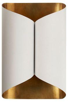 AERIN Selfoss Sconce   Plaster White/Gild