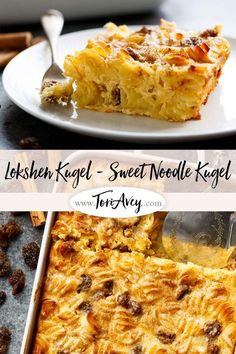 Sweet Lokshen Kugel Jewish Noodle Pudding Sweet Lokshen Kugel Learn to make traditional Yiddish dairy noodle pudding with cottage cheese sour cream cream cheese sugar and cinnamon Passover Recipes, Jewish Recipes, Passover Meal, Jewish Kugel Recipe, Jewish Desserts, Jewish Food, Jewish Shabbat, Kosher Recipes, Cooking Recipes