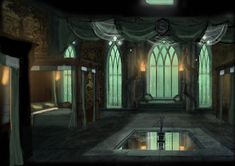 Slytherin Dorm by OriginalCopyCat1874.deviantart.com on @deviantART