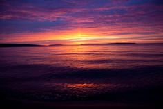 Sunrise over Lake Superior near Bayfield Wisconsin.
