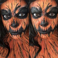 Pumpkin makeup Horror Makeup, Halloween Face Makeup, Pumpkin, Pumpkins, Scary Makeup, Squash