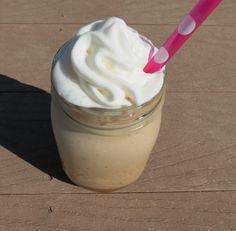 Skinny Vanilla Mocha Frappe - made with instant coffee, water, milk, splenda/stevia, vanilla and cocoa