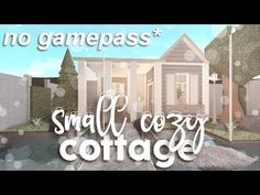 ROBLOX || Bloxburg: No Gamepass Small Cottage (House Build) ☆ - YouTube Small House Layout, House Layouts, Two Story House Design, Small House Design, Home Building Design, Building A House, Modern House Floor Plans, House Plans, House Outline