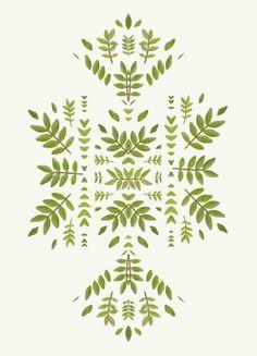 Botanical Rorschach by Cocorrina