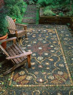 20 magnificent diy mosaic garden decorations for your inspiration - HomeSpeciall. - 20 magnificent diy mosaic garden decorations for your inspiration – HomeSpecially - Garden Steps, Garden Paths, Quick Garden, Front Yard Landscaping, Backyard Patio, Landscaping Ideas, Backyard Ideas, Mulch Landscaping, Landscape Edging Stone