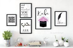 Kuran, islam, Koranvers, islamic quotes, Islamic wallart, islamicdecor, Walldecor, kabe, kaabe von Gulartdesign auf Etsy