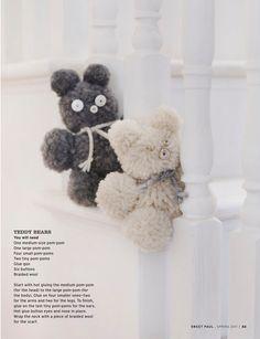 pom pom teddy bears