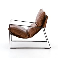 Your next favorite read is calling your name with the comfortable Four Hands Emmett Sling Chair . The sling leather seat has a plush cushion that will. Industrial Chair, Vintage Industrial Furniture, Long Chair, Steel Furniture, Furniture Nyc, Cheap Furniture, Plywood Furniture, Luxury Furniture, Modern Furniture
