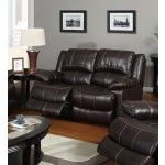 Poundex Furniture - Dark Brown Bonded Leather Loveseat - F7088  SPECIAL PRICE: $609.00