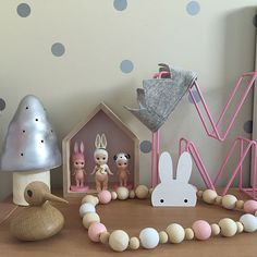 Sophie and Millie: Bunny ears wall hook (available in standard and removeable fittings) as seen in Millie's room above, Charlie & Jae,