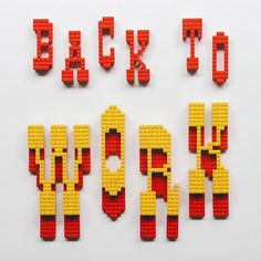 A new wallpaper for a new week. (download link in profile)  Monday's.. Take your work seriously but not so much yourself. Hope you all have a super rad awesome start to your week! I assembled these @lego letters inspired by my friend @iamjustlucky's newest font, Lumber Co. via Instagram http://ift.tt/1TgFzwR