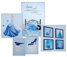 Balancing Mama: Fit for our Princess: #Cinderella bedroom decor