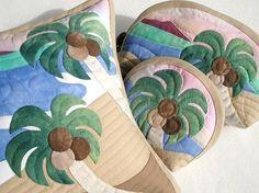 $Hawaiian Quilt Garden-ハワイアンキルトクッション2
