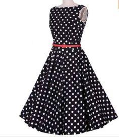 vestido retrô vintage pinup poá audrey