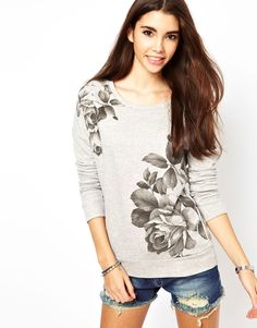 pretty floral sweatshirt