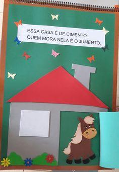 "Atividades Escolares: Livro gigante ""A casa e seu dono"" Elias José Home Schooling, Homeschool, Family Guy, Classroom, Education, Diy, Fictional Characters, Organization, Creative Activities For Kids"
