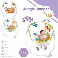 จัดเลย  Jumper Jungle Jumbo จัมเปอร์ รุ่น Jungle เก้าอี้กระโดด 360 องศาของเล่นเสริมพัฒนาการ พร้อมเสียงเพลงดนตรีสนุกน่ารัก nontoxic สีเขียว  ราคาเพียง  3,290 บาท  เท่านั้น คุณสมบัติ มีดังนี้ - เหมาะสำหรับเด็ก 5 เดือนขึ้นไป - เหมาะแก่การออกกำลังกายกล้ามเนื้อส่วนต่างๆเนื่องจากเด็กในวัยนี้กำลังต้องการยืด ขยายตัว - สามารถเคลื่อนไหวได้รอบทิศทาง 360 องศาพร้อมกับเล่นของเล่นได้รอบด้าน - ช่วยกระตุ้นการจับ การสัมผัส การได้ยิน การมองเห็น การเอื้อม - ช่วยให้เด็กเข้าใจการทำงานร่วมกันของอวัยวะต่างๆ… Baby Gear, Lights, Learning, Toys, Activity Toys, Lighting, Study, Games, Lamps